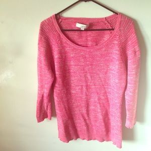 Thick Pink Loft Spring Sweater (5/$25)